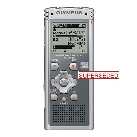 WS750M - OLYMPUS WS 750 M DIGITAL CONFERENCE RECORDER