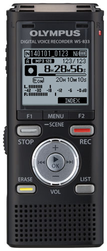 OLYMPUS WS-833 DIGITAL DICTATION DICTAPHONE VOICE RECORDER