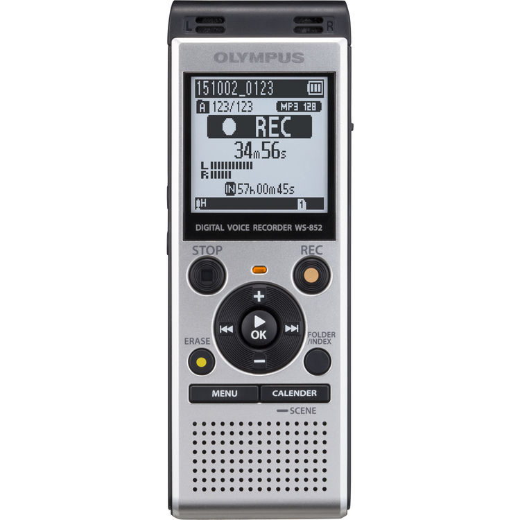 OLYMPUS WS-852 DIGITAL DICTATION DICTAPHONE VOICE RECORDER